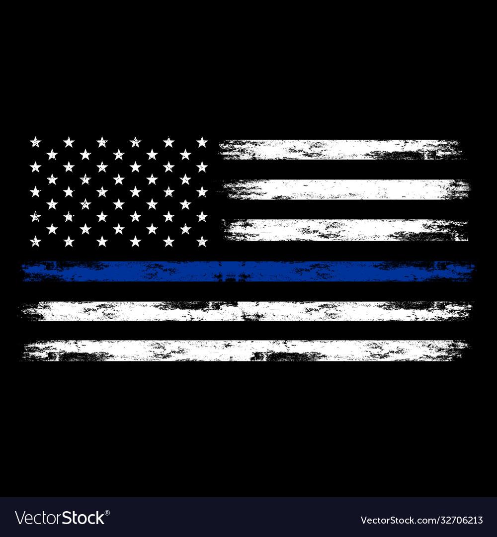 Us police flag - american