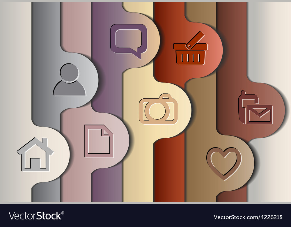 Abstract colorful layout vector image