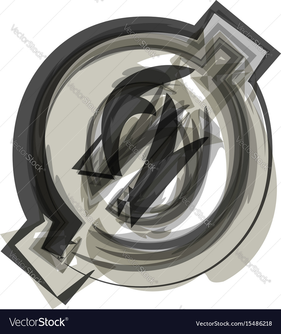Abstract number 0 vector image