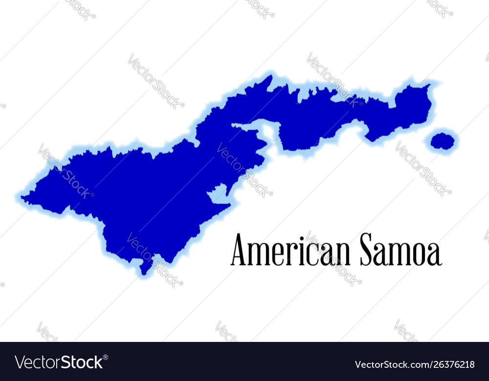American samoa outline map