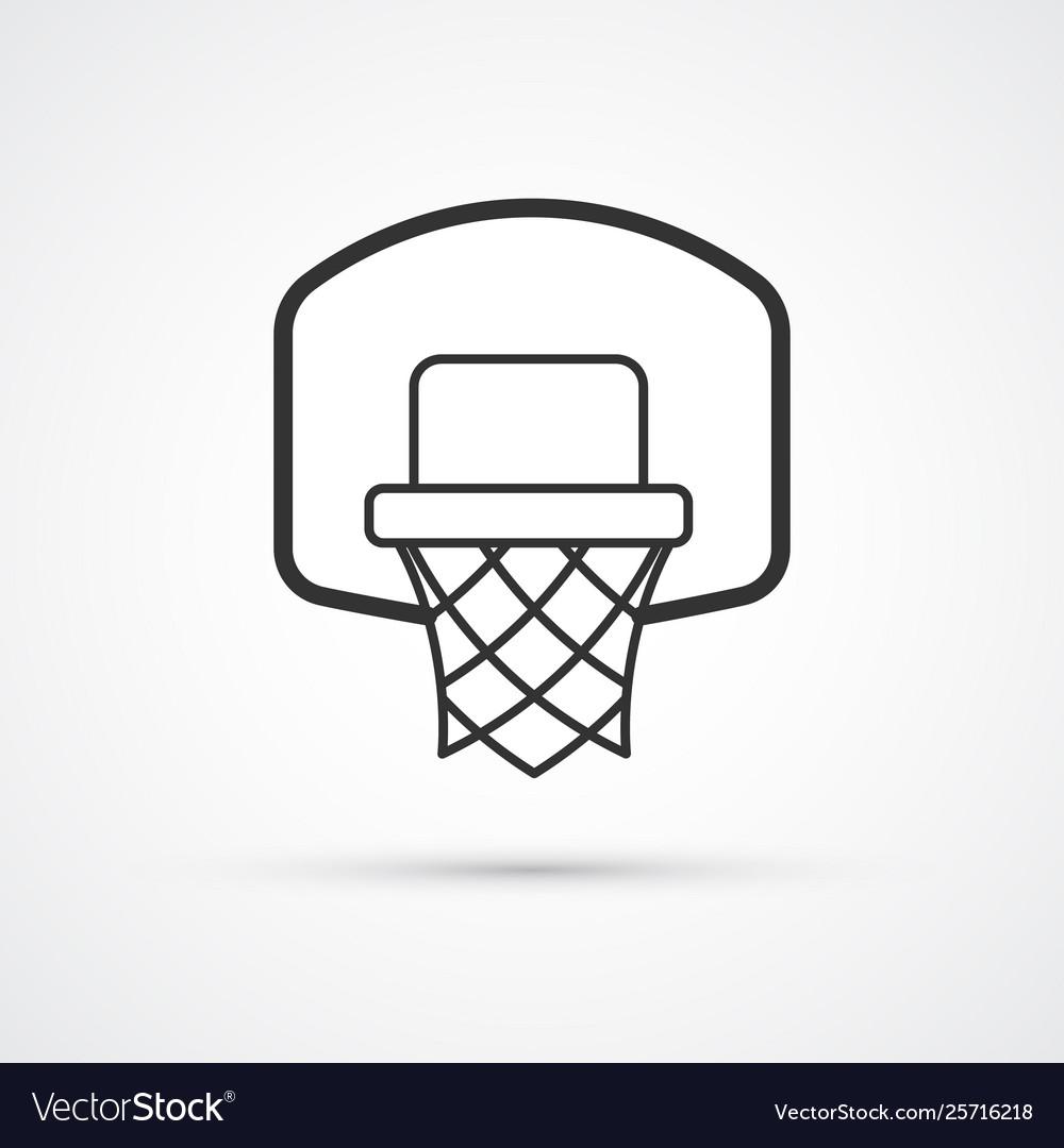 Basketball basket black icon eps10