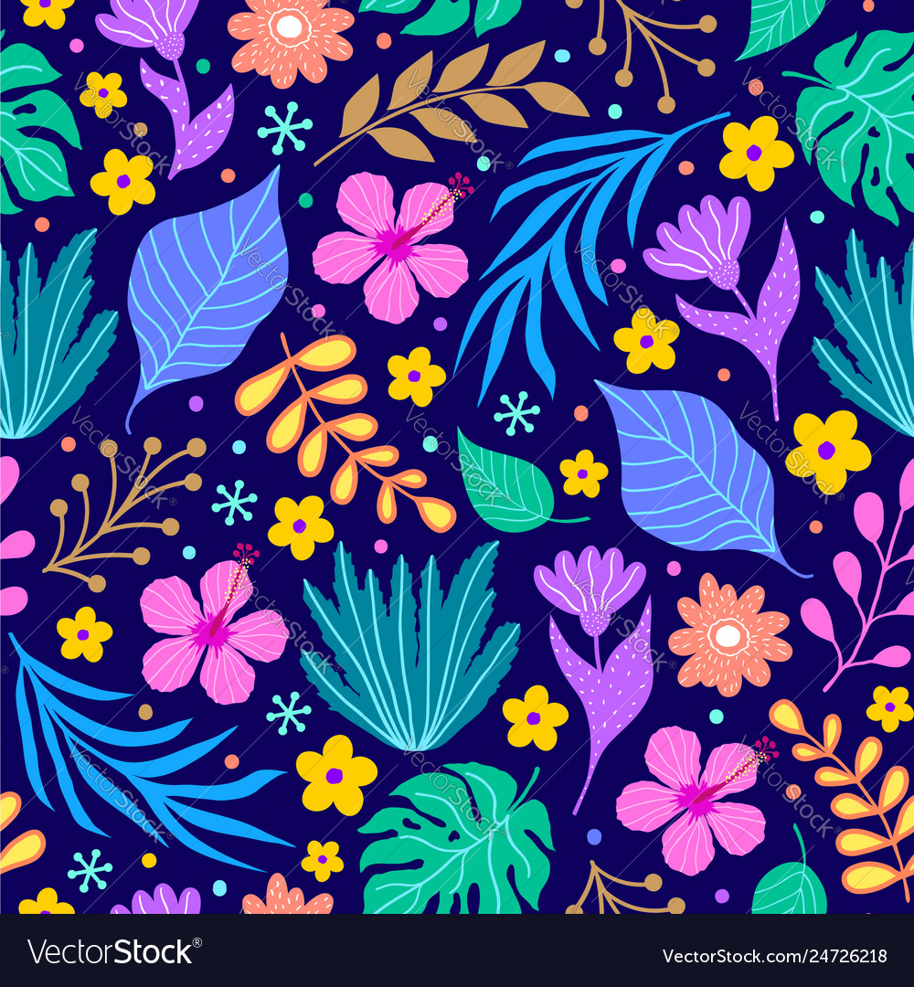 Colorful Floral Pattern Royalty Free Vector Image