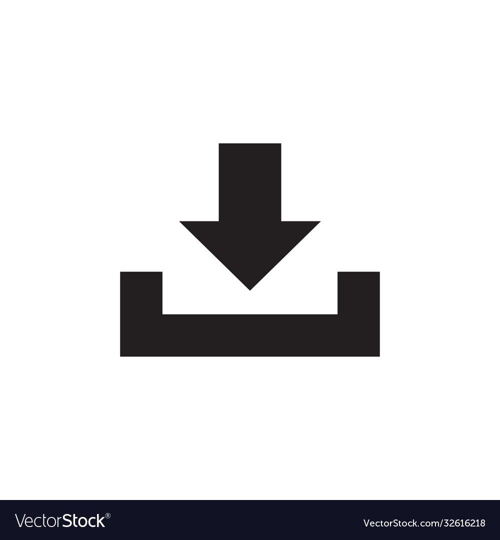 Download - black icon on white background