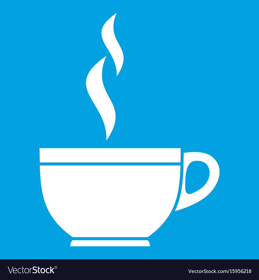 Glass cup of tea icon white