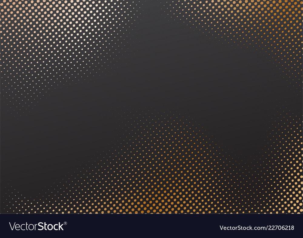 Halftone effect whit golden background