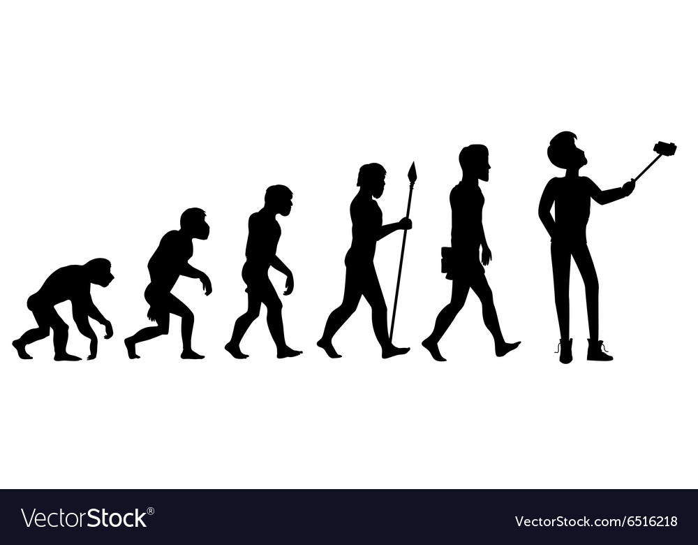 Human Evolution from Ape to Man vector image