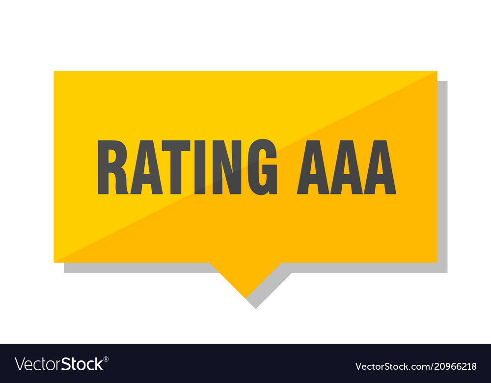 Rating aaa price tag vector image