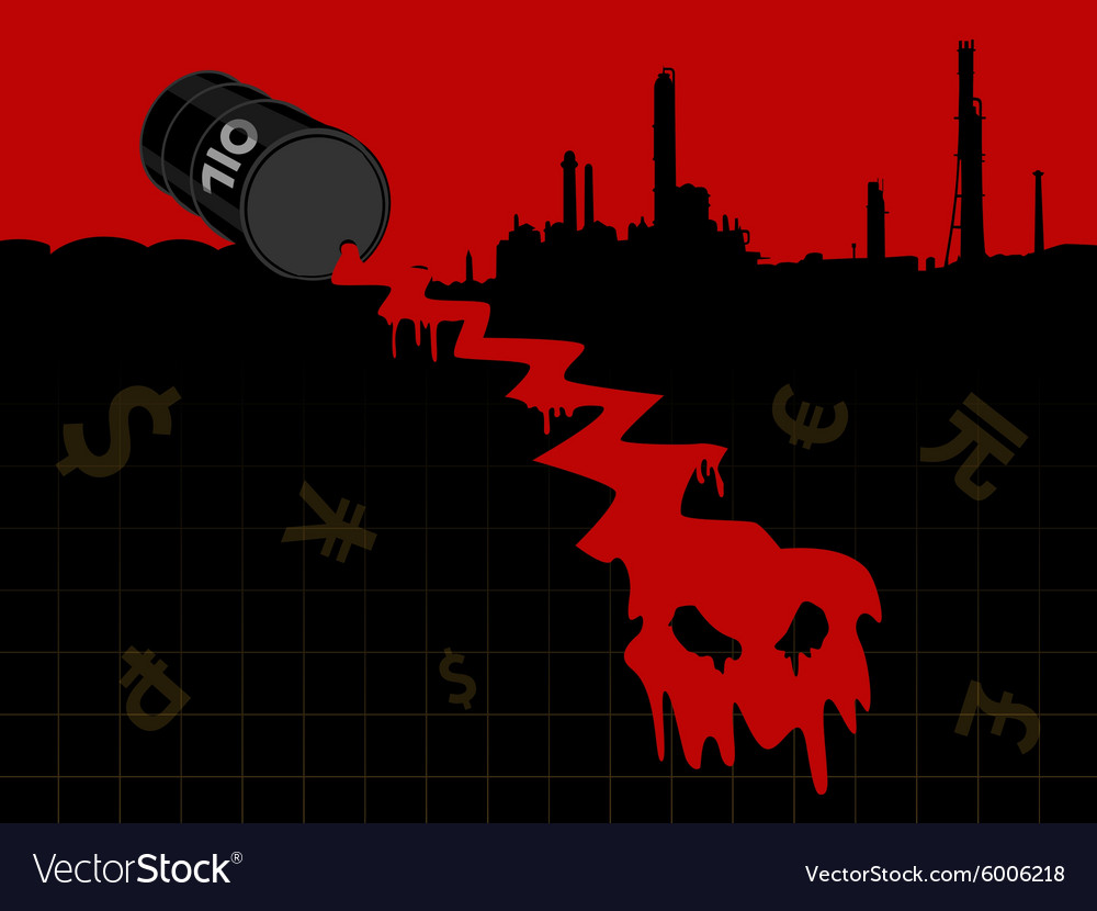 Red Crude Oil Price Fall Down Royalty Free Vector Image
