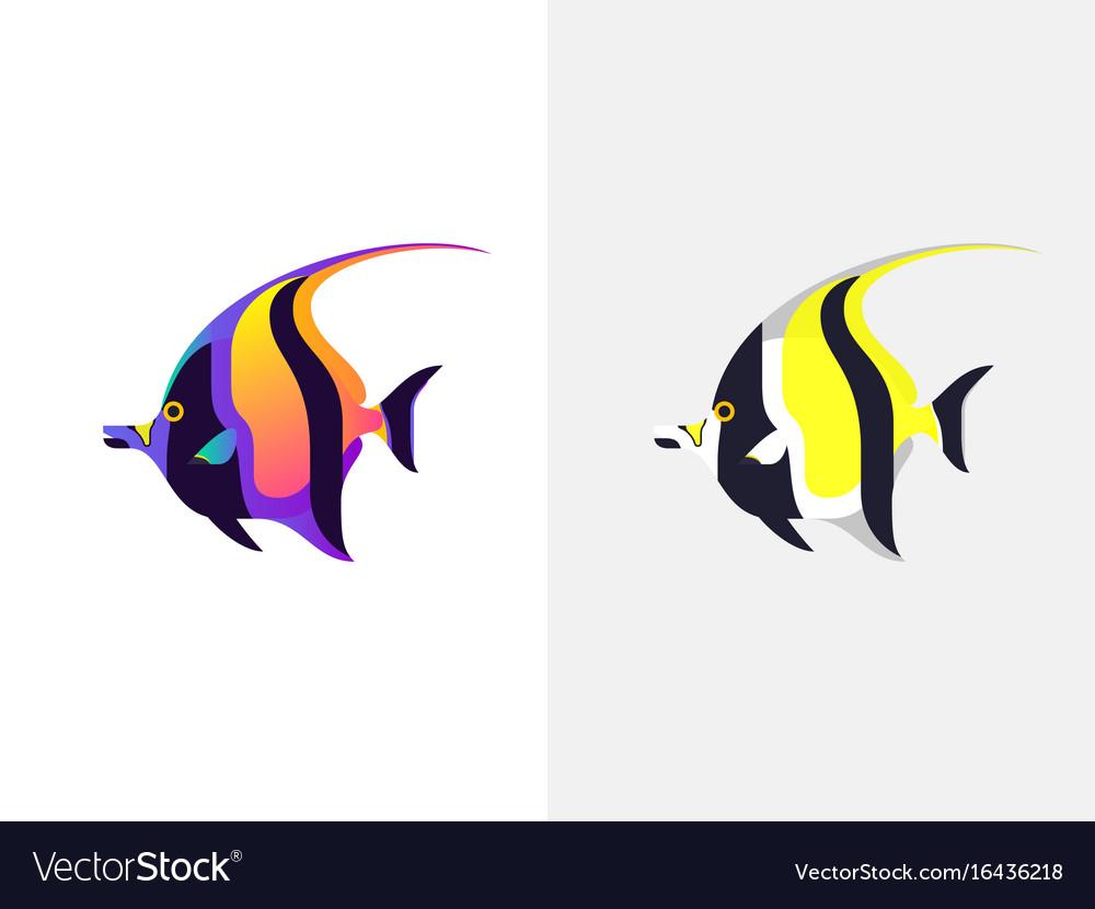 Tropical fish moorish idol