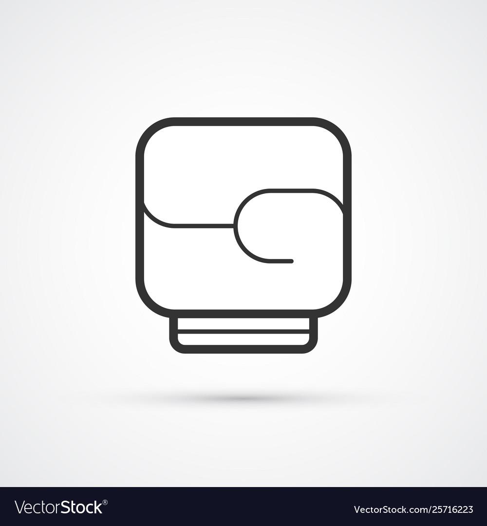 Boxing black line glove icon eps10