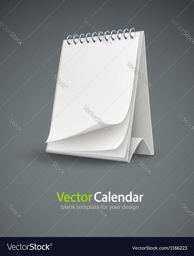 Calendar template with blank