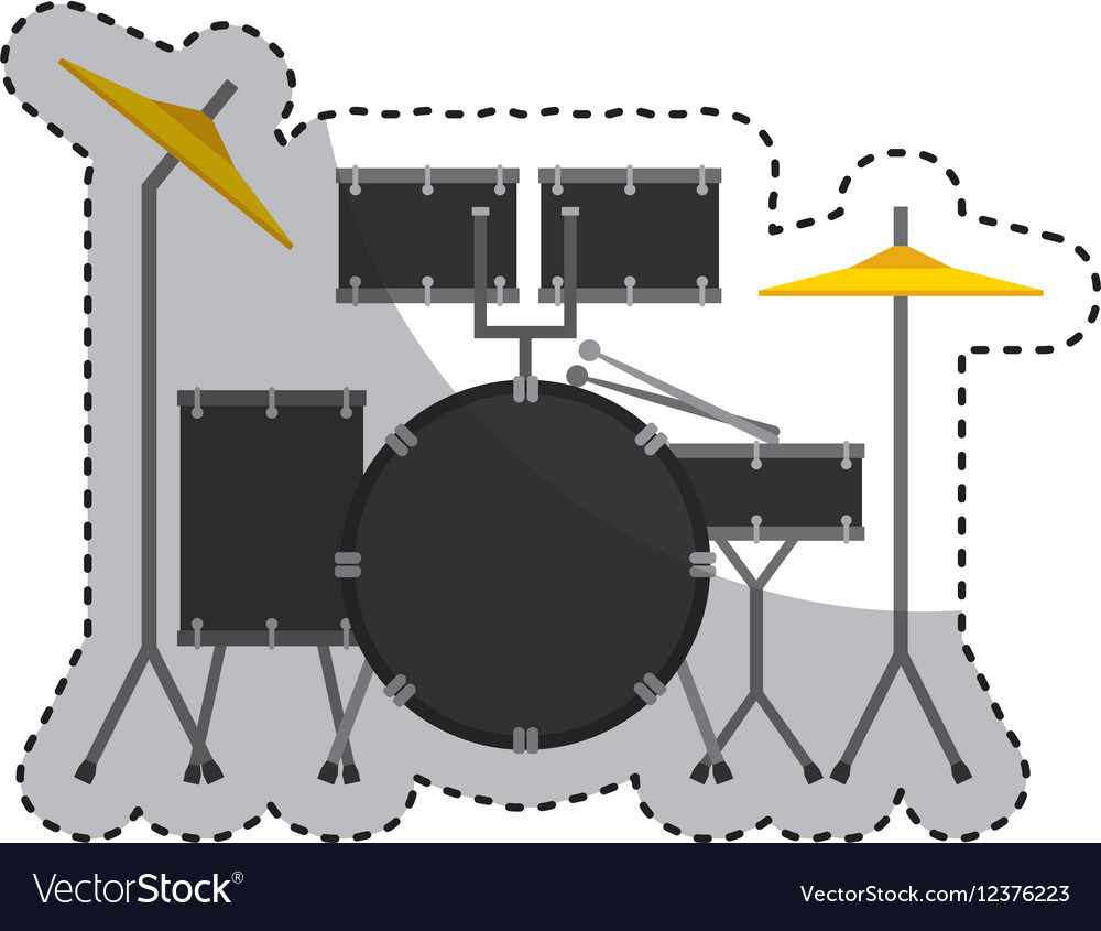 Drums battery isolated icon