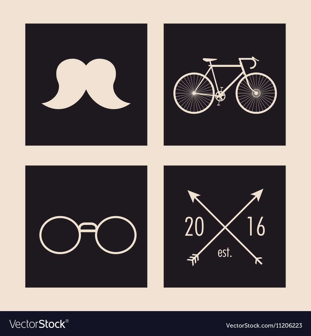 a68c4d00ef8 Hipster and vintage style icon design vector image on VectorStock