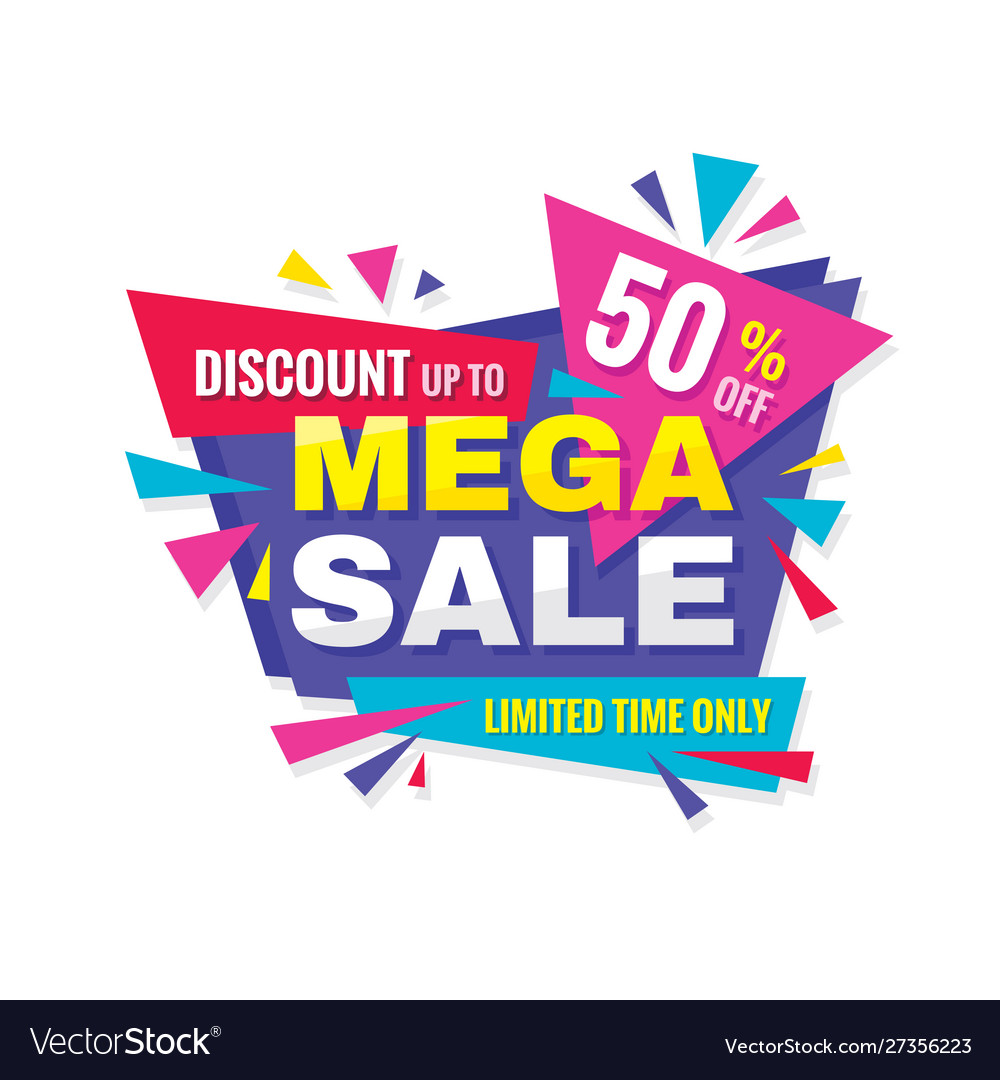 Mega sale - concept promotion banner abstract bac