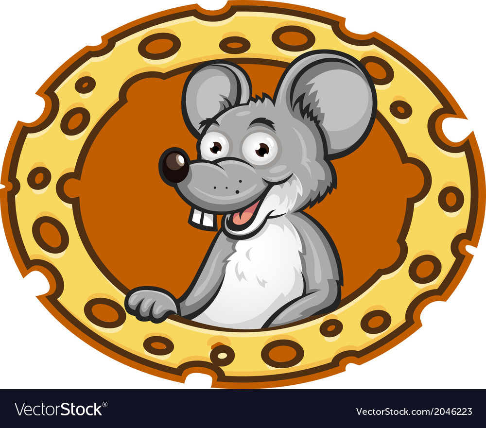 Mouse with cheese frame