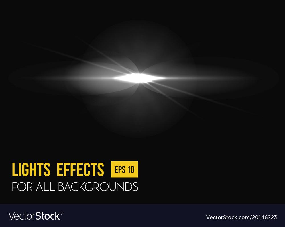 Sunbeam shining through lens sun light effect