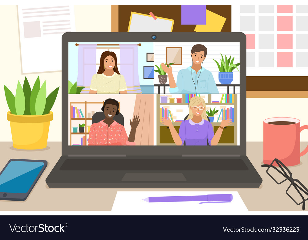 Video conference landing online business