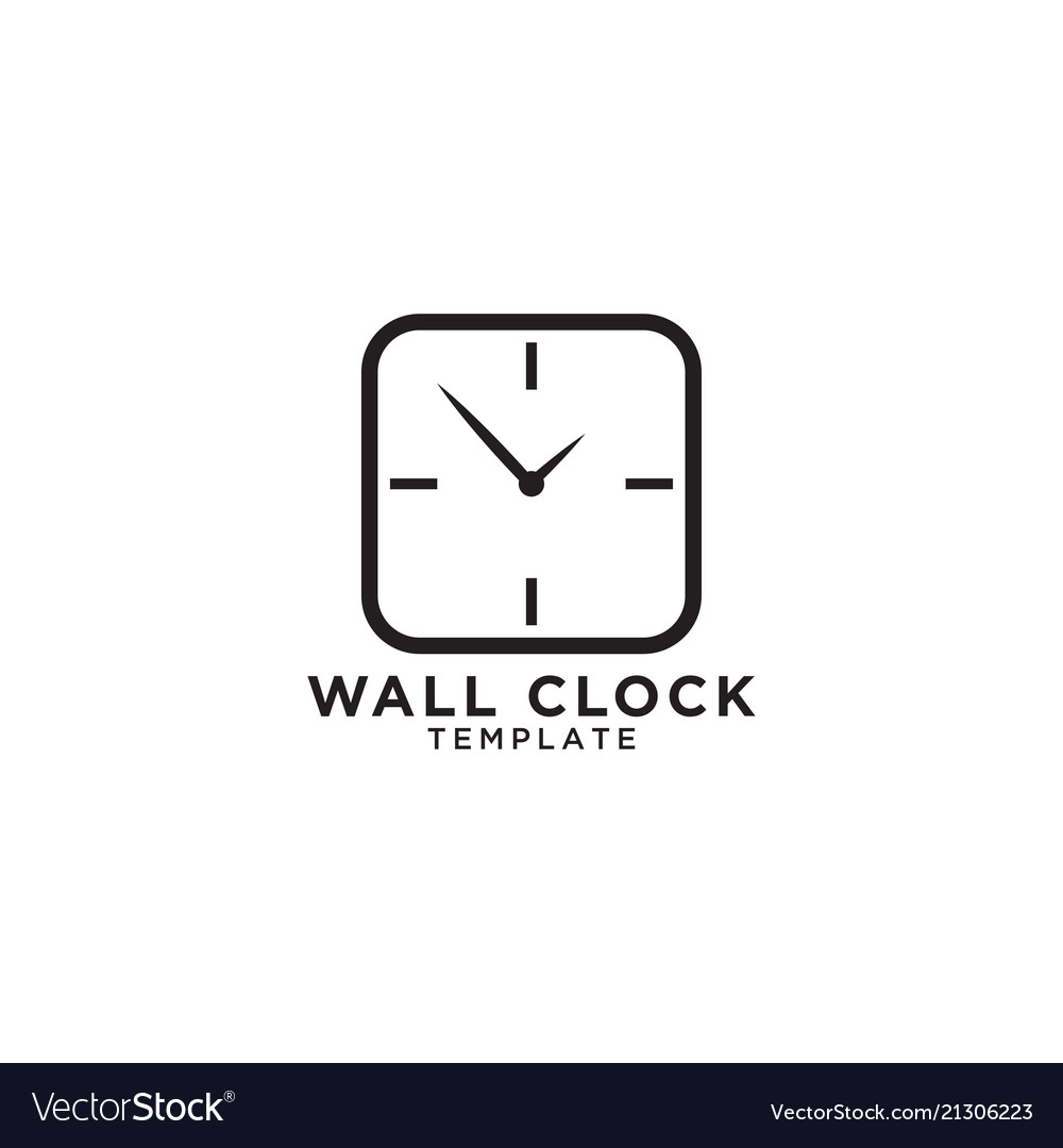 Wall clock logo design template