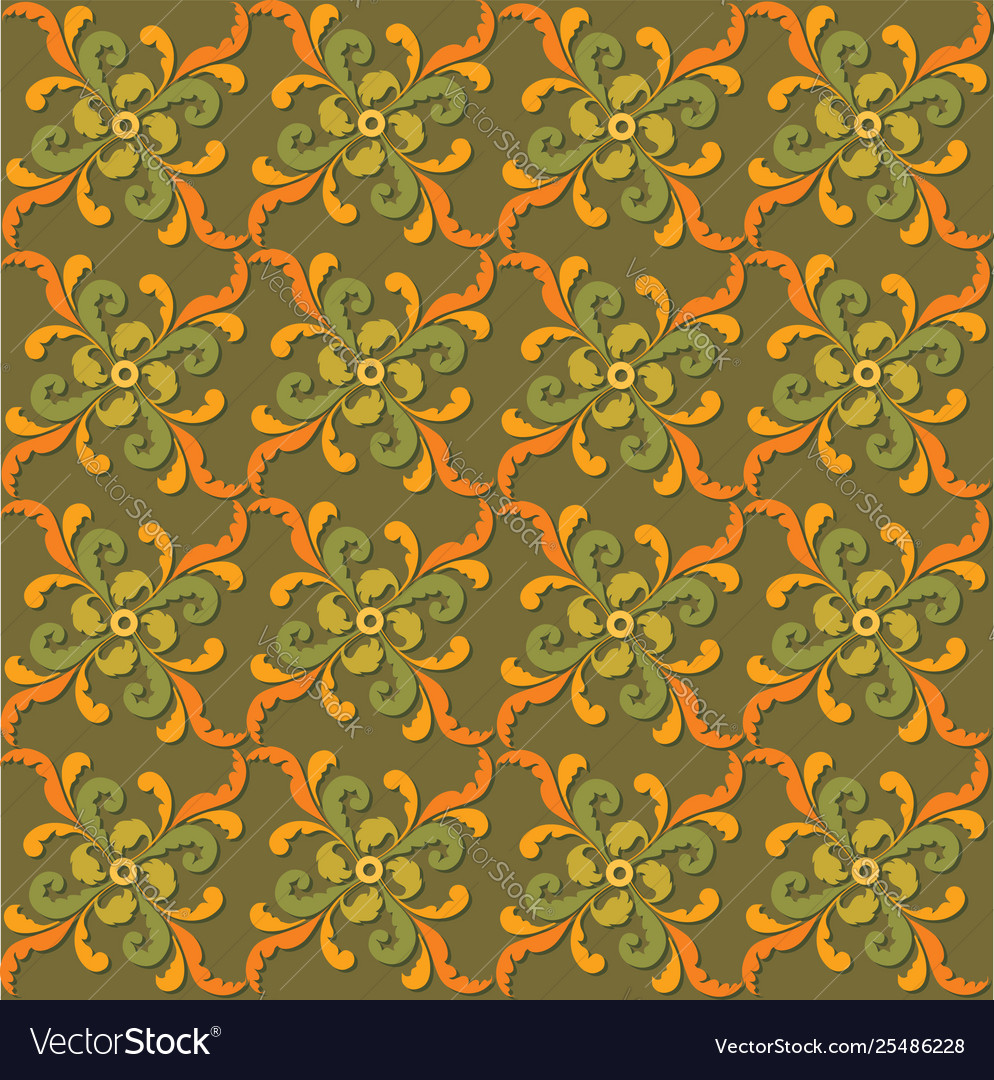 Abstract floral seamless texture stylish oriental