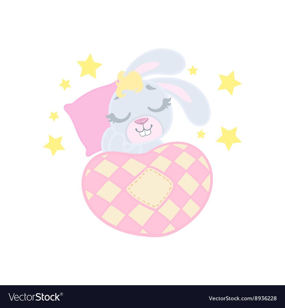 Bunny Sleeping In Bed