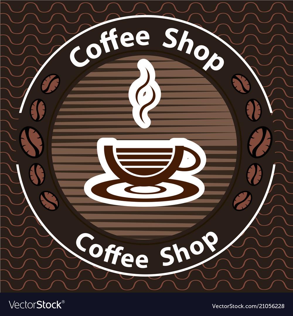 Coffee logo - emblem set desi