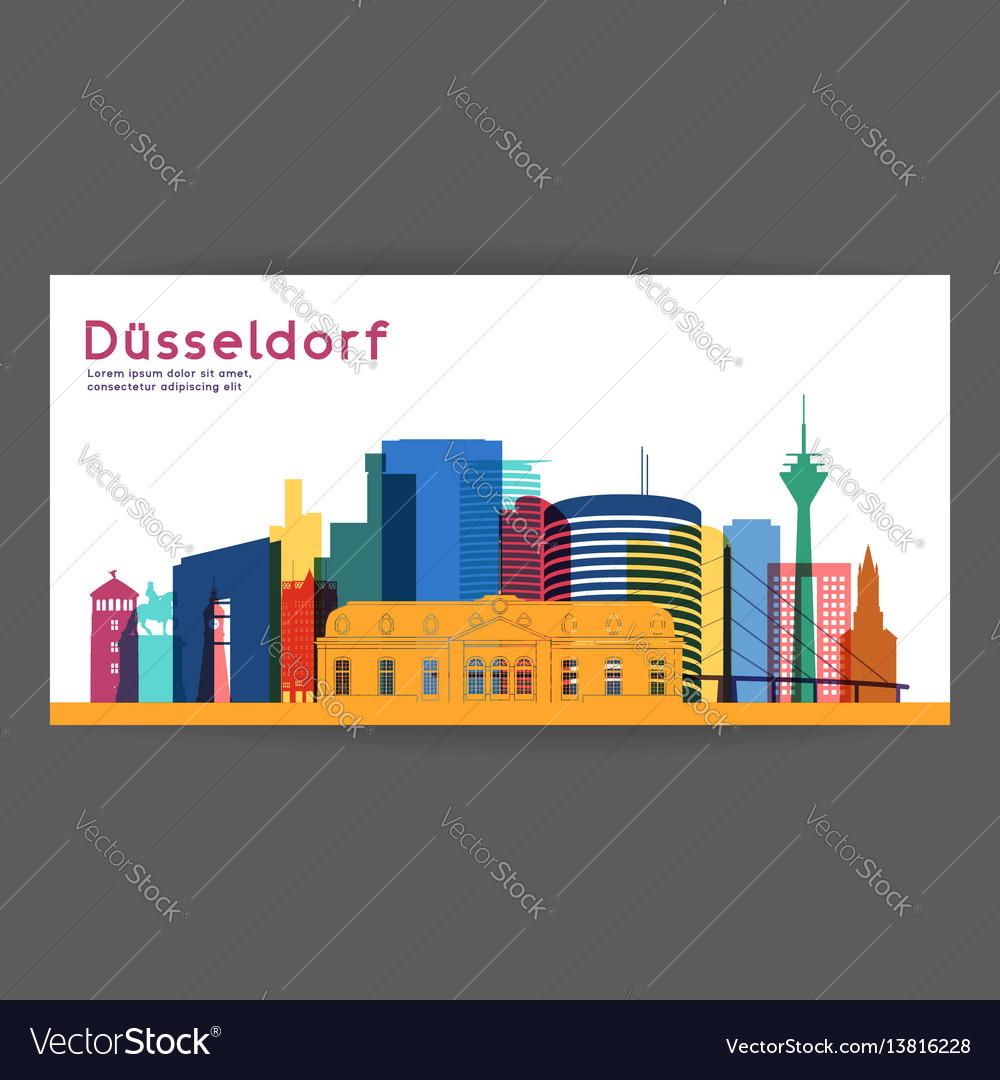 Dusseldorf colorful architecture vector image