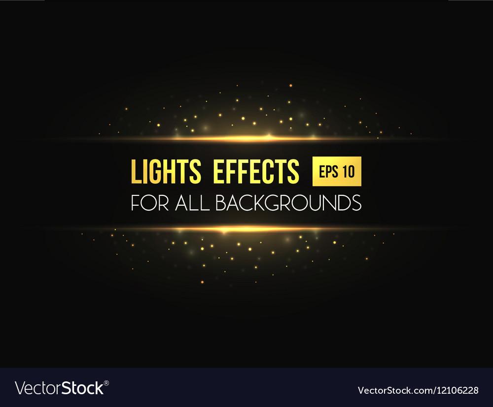 Horizon halo light through lens effect vector image