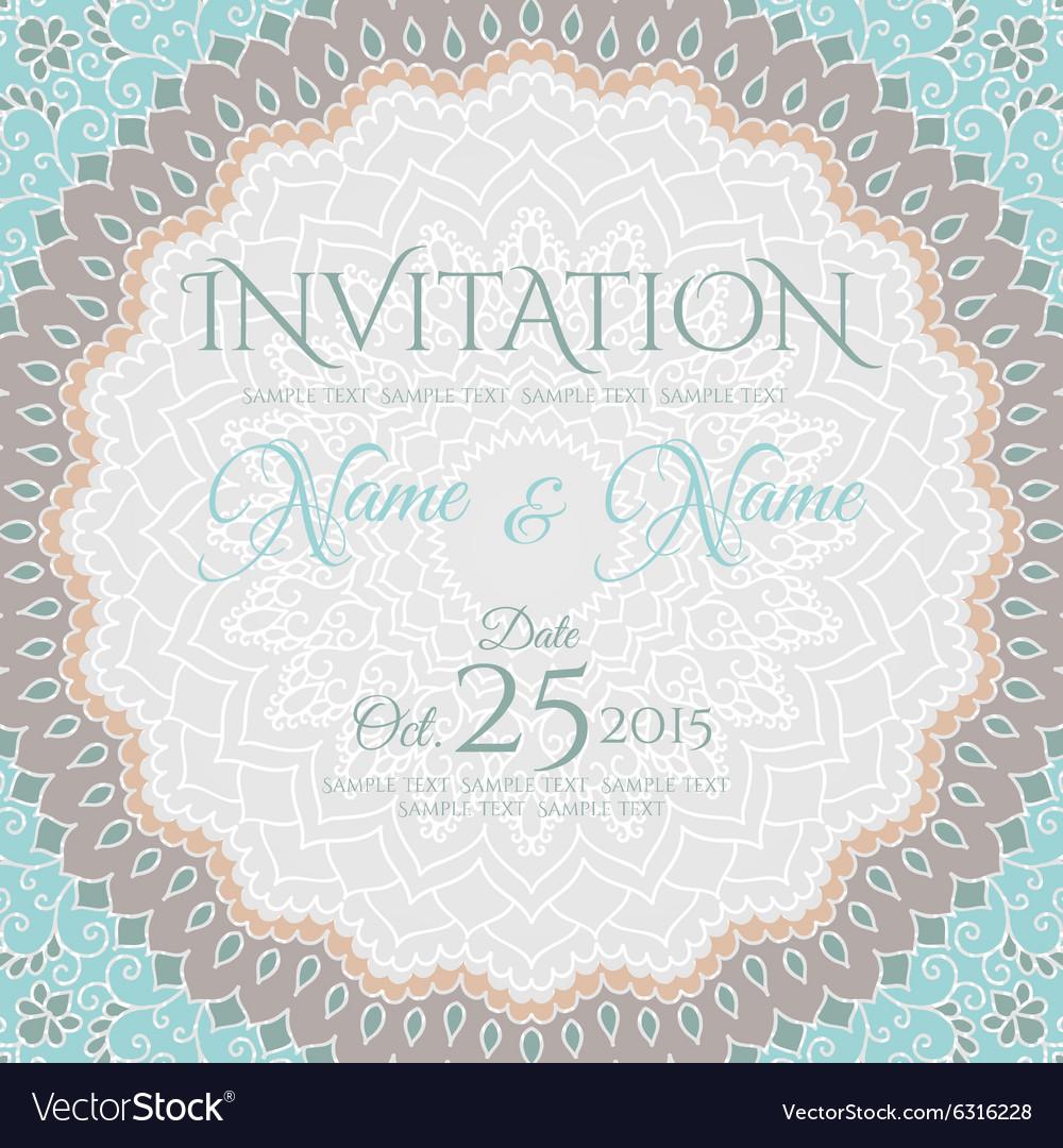 Invitation Card Design With Mandala Ornament