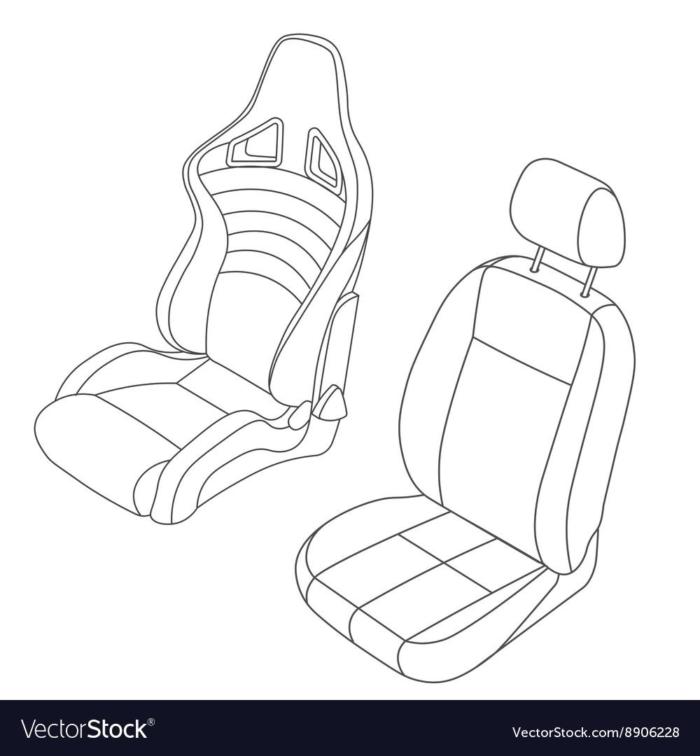 Isolated Car Seat Set