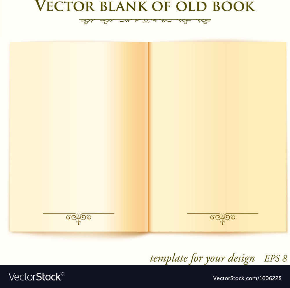 open old book template for your design royalty free vector