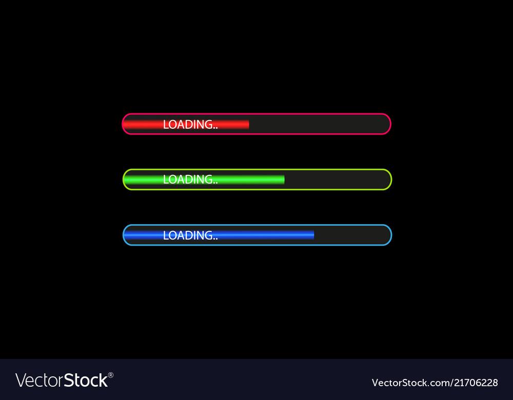 Progress loading bar with lighting concept