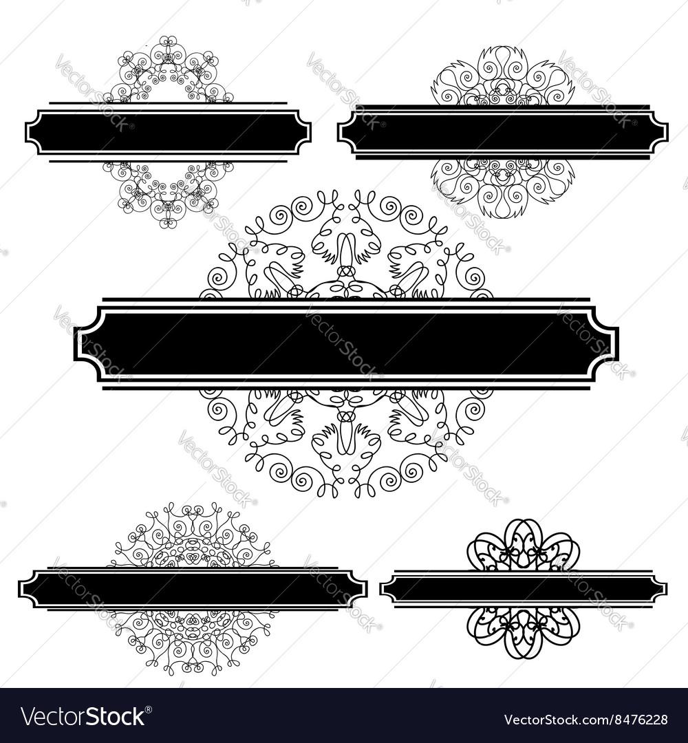 Set of Different Flourishes