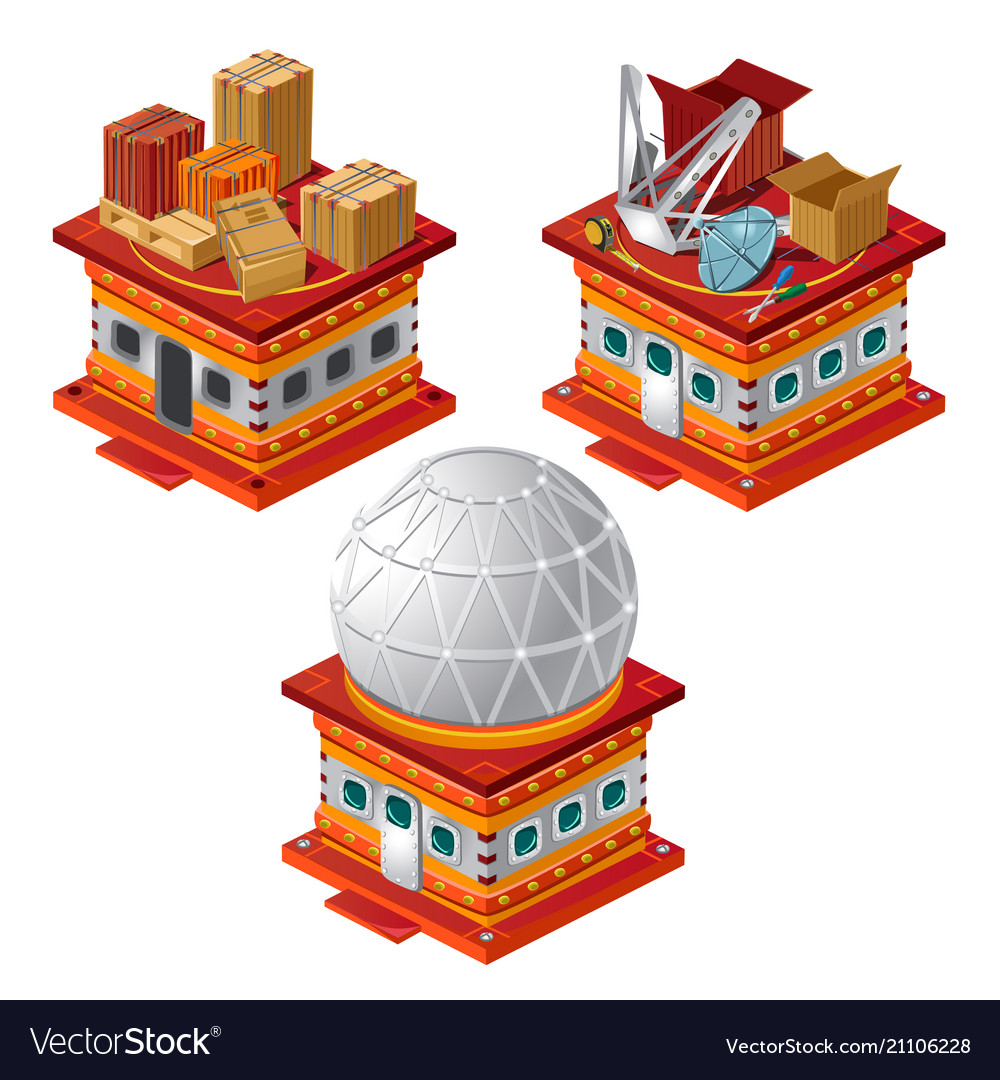 Set of stages of construction of the observatory