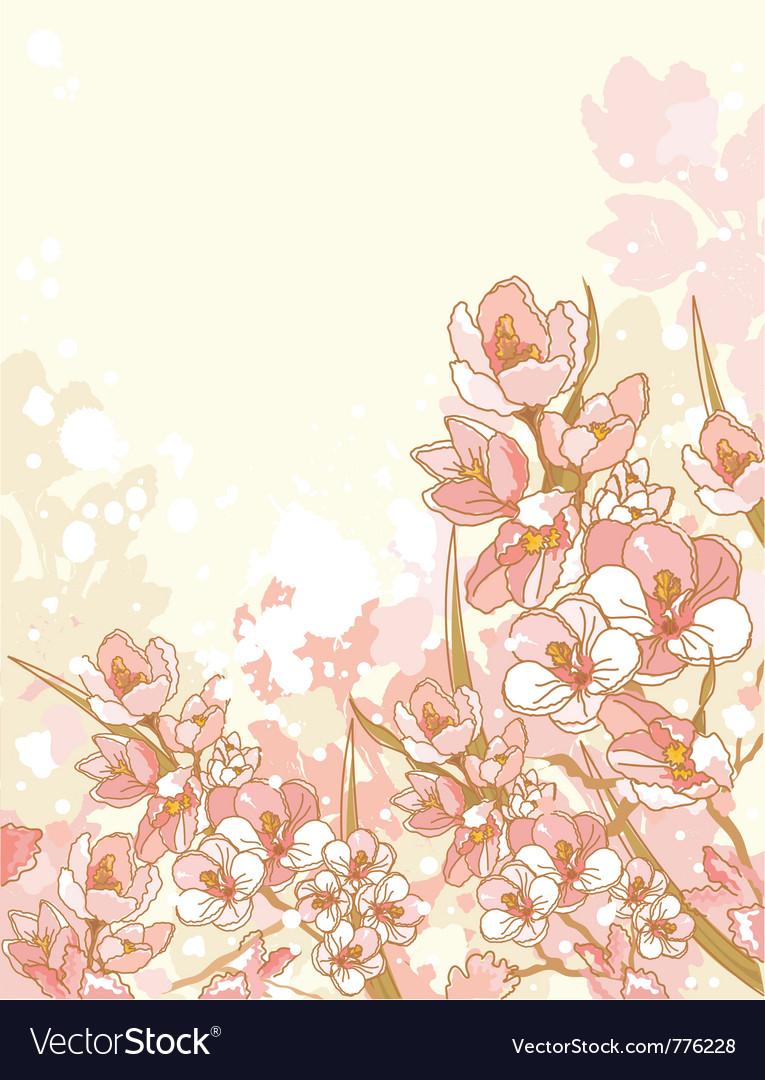 Spring flowers design vector image