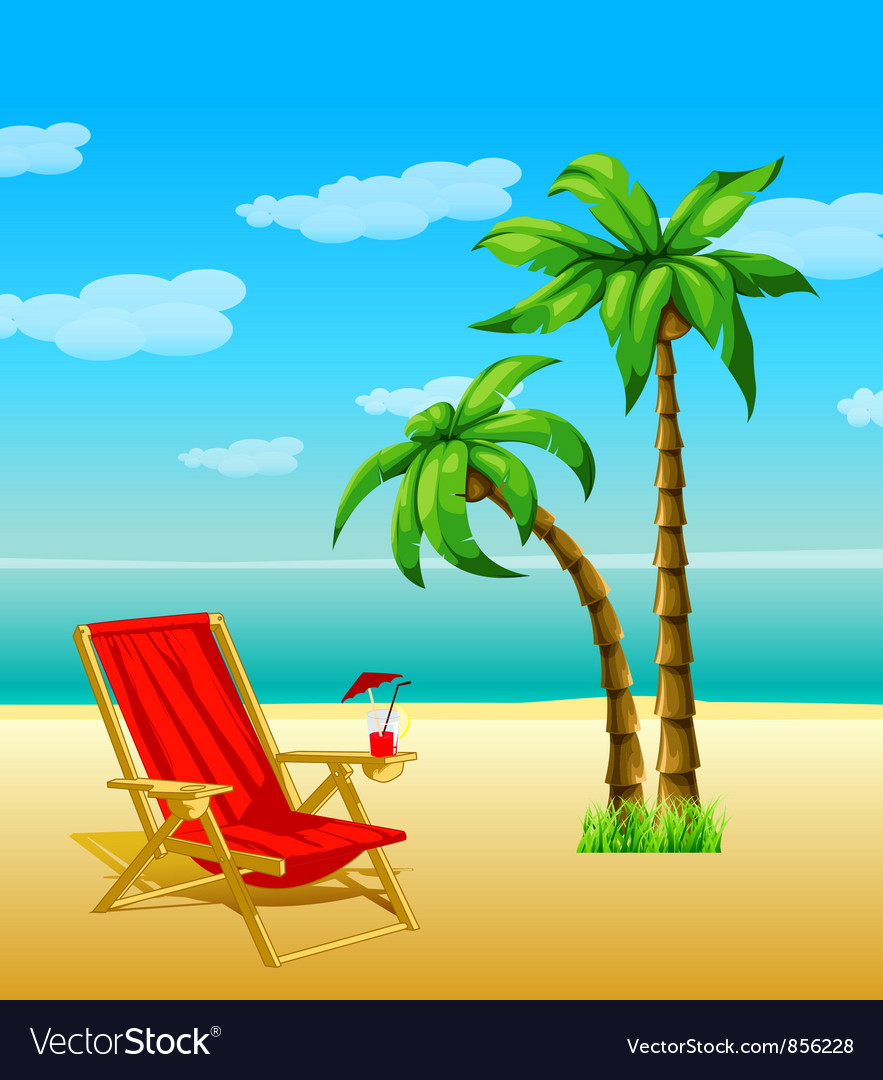 Summer with palm trees