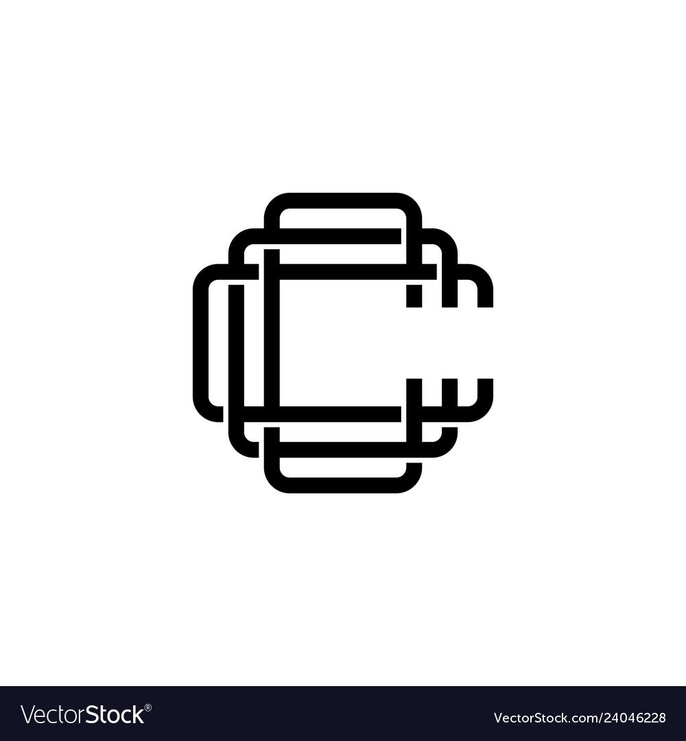 Triple c monogram ccc letter hipster lettermark