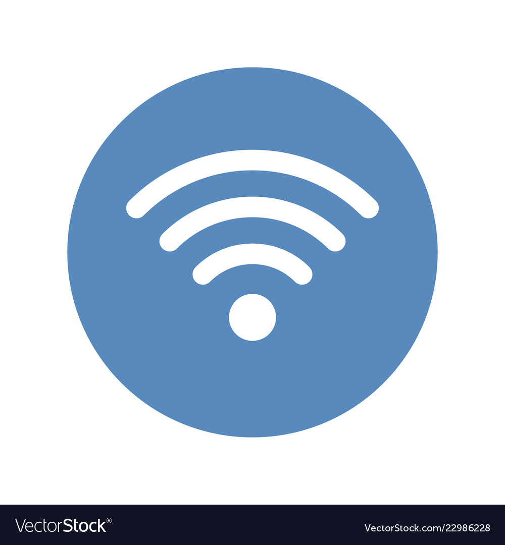 wifi icon wireless network symbol placed in blue vector image Wireless Network Connection Symbol