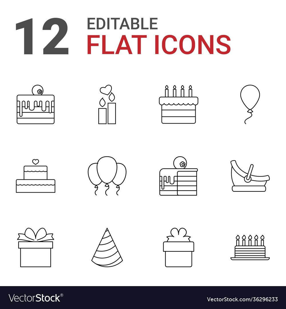 12 birthday icons