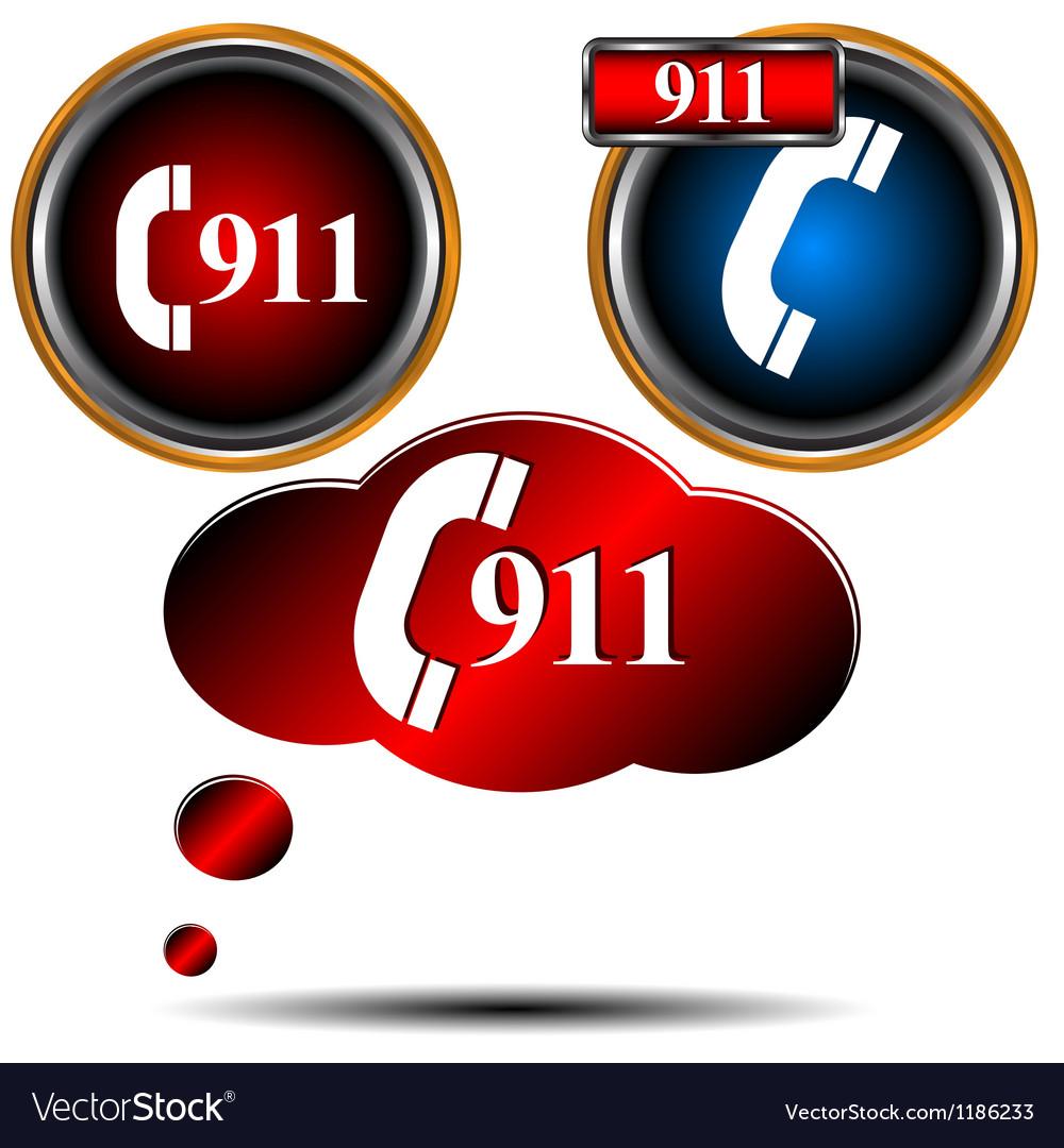 911 emergency set vector image