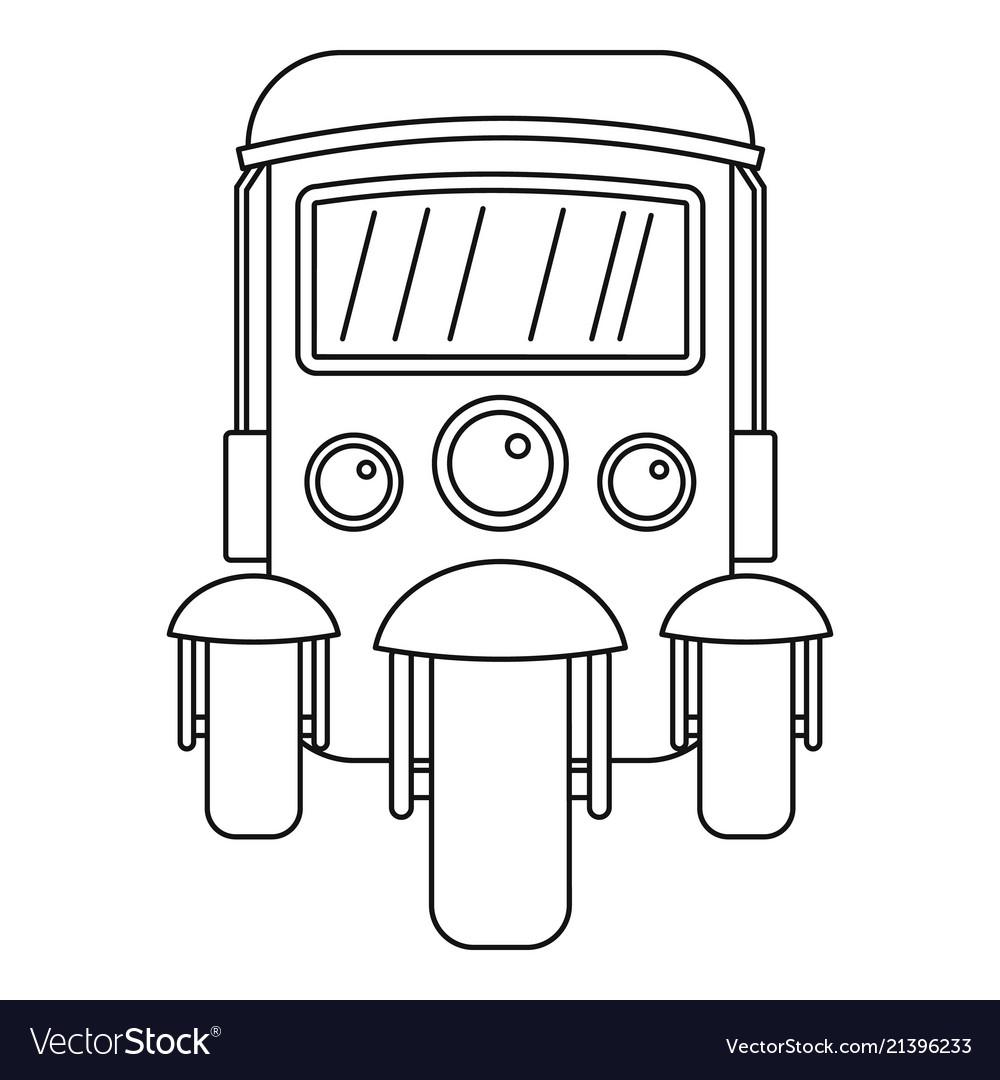 Auto rickshaw icon outline style