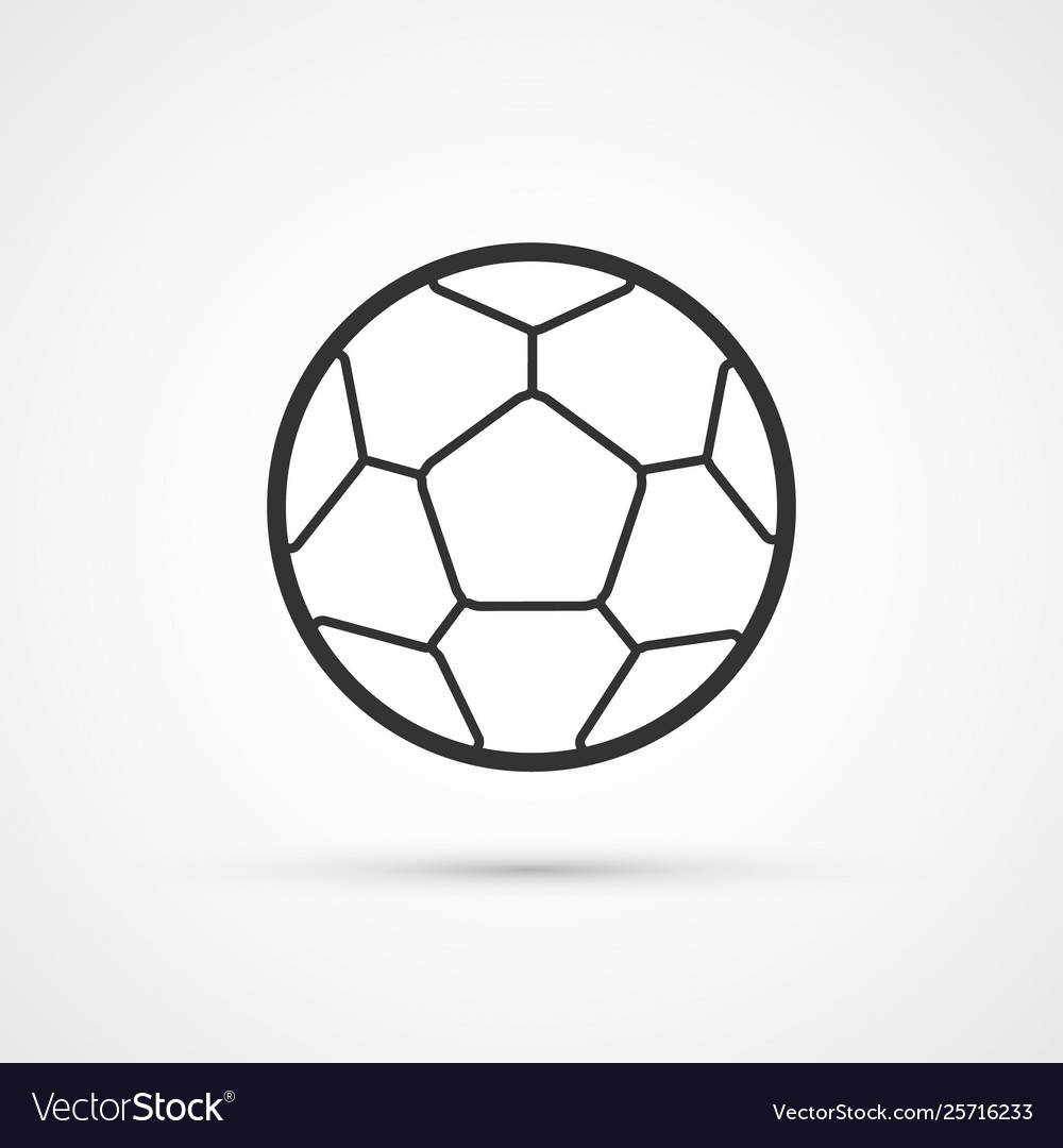 Football black icon soccerball eps10