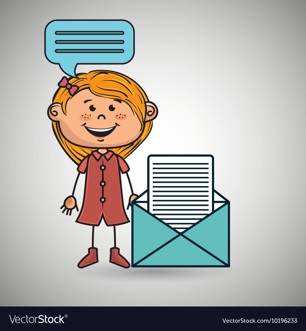 Girl female message chat vector image