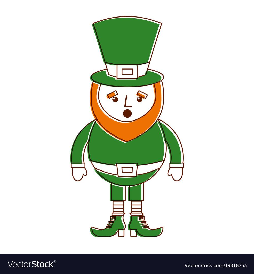 leprechaun surprise cartoon st patricks day vector image