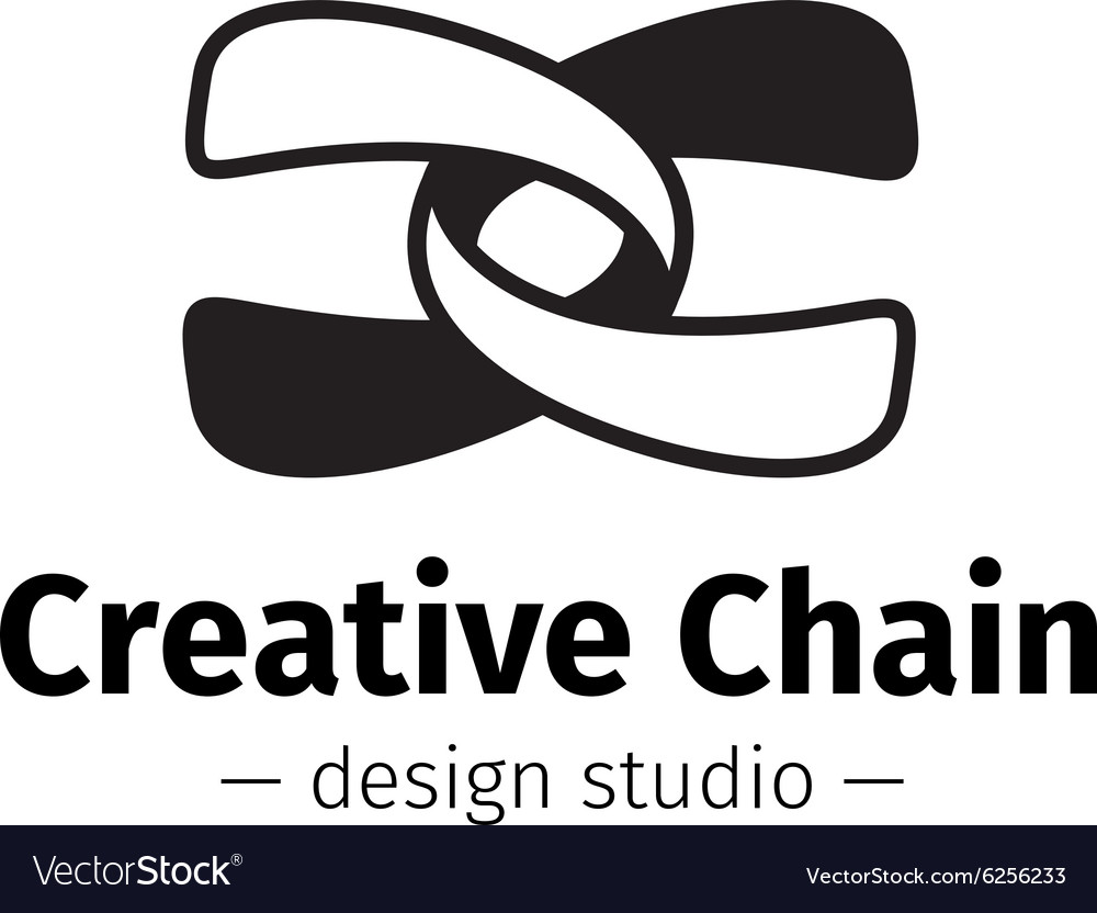 Modern creative abstract logo Black and vector image