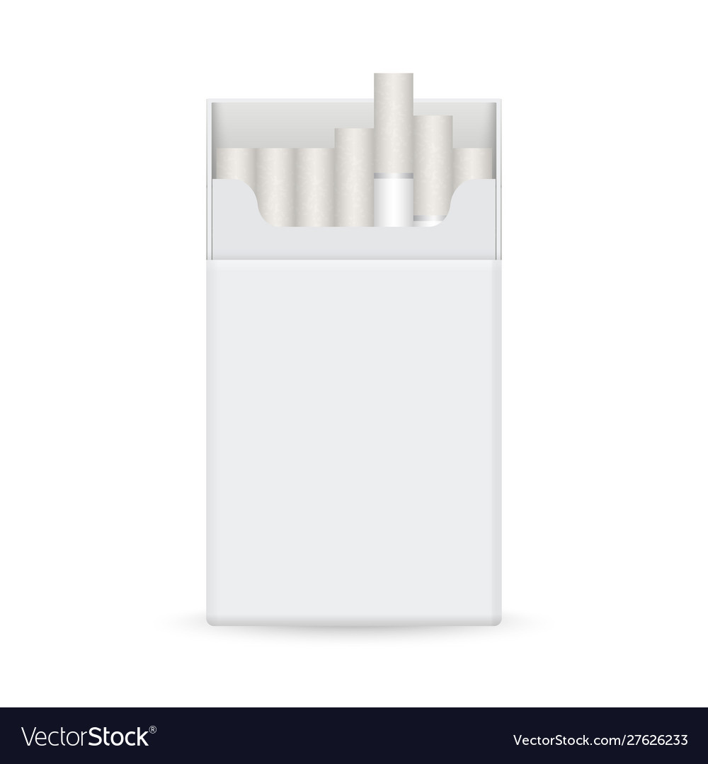 Realistic blank cigarette pack template