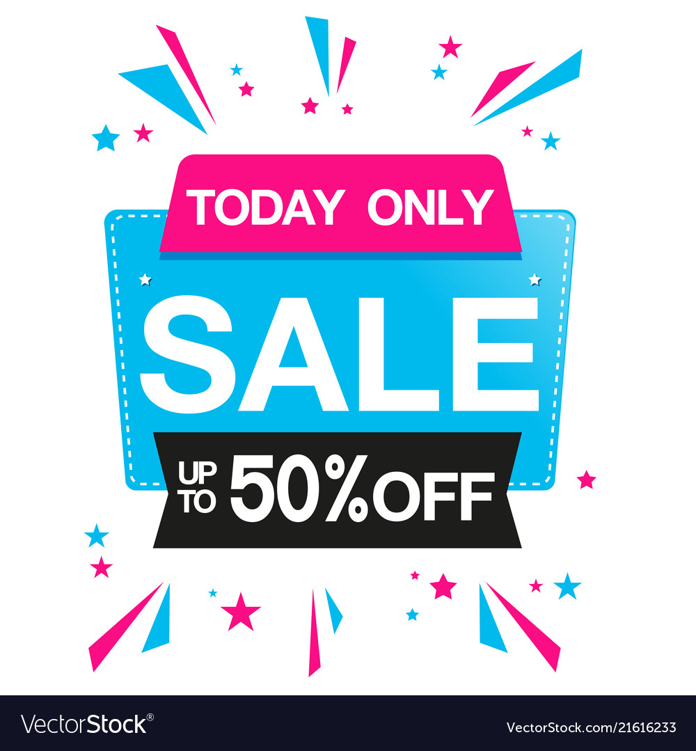Today only sale up to 50 off ribbon image