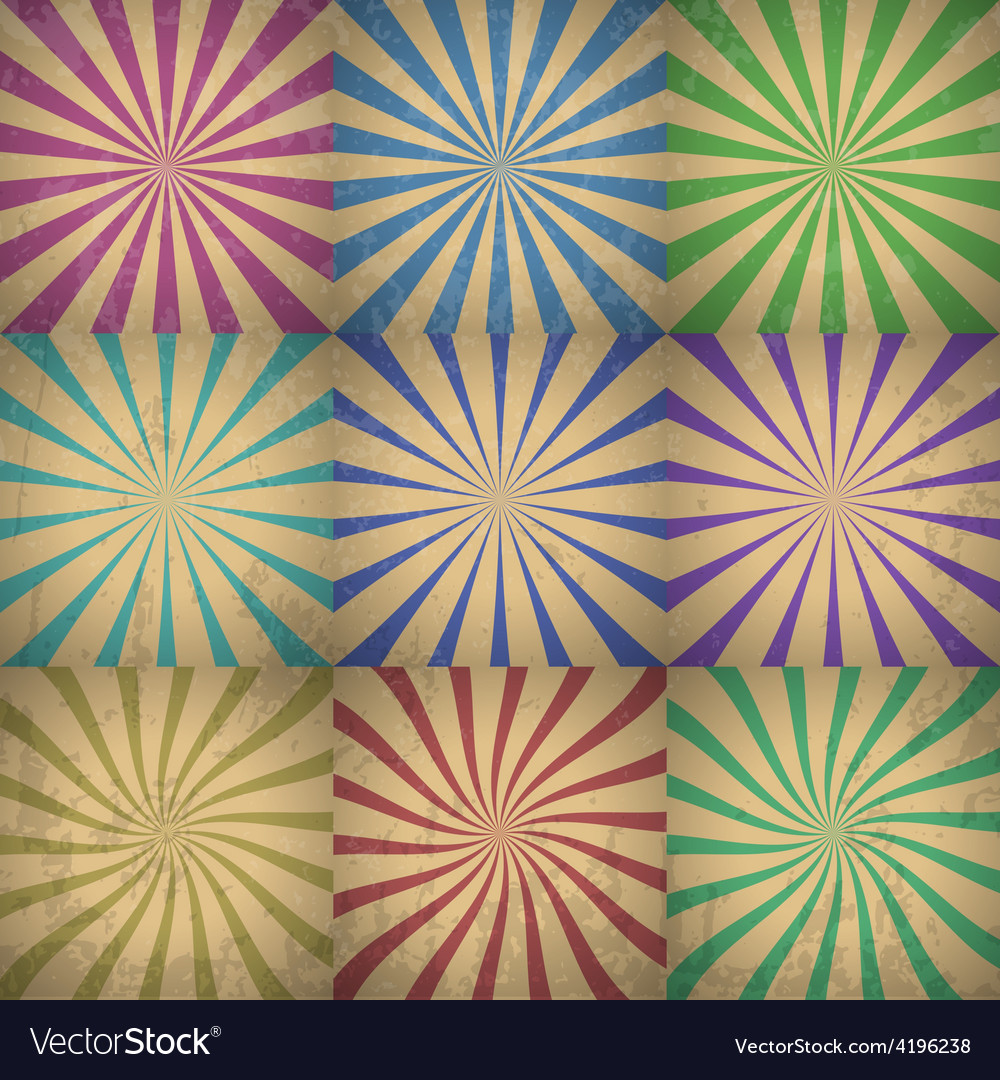 Abstract colorful retro background