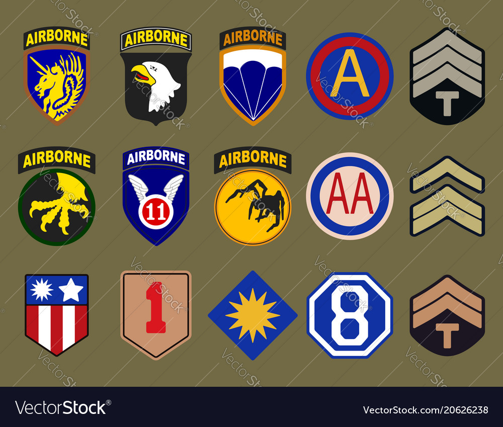 Airborne air force and army patches