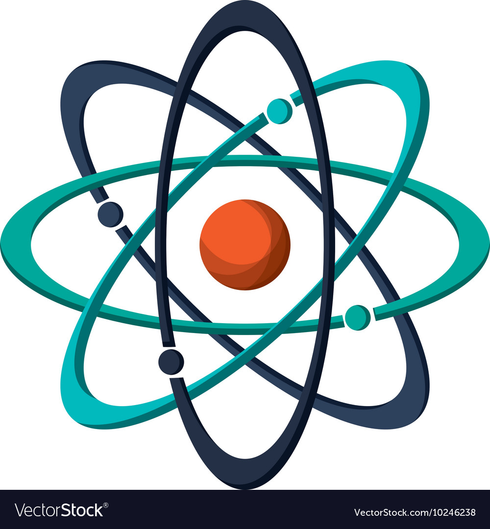 atom structure icon royalty free vector image vectorstock vectorstock