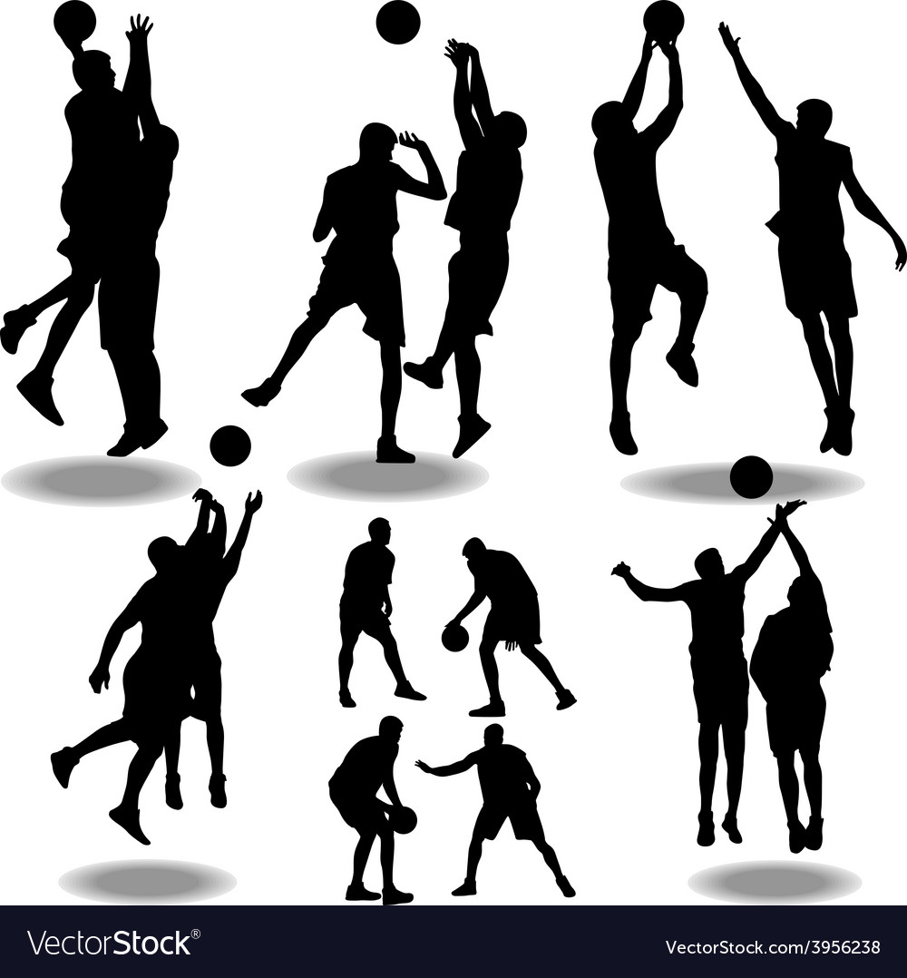 basketball silhouette royalty free vector image rh vectorstock com basketball silhouette vector free download basketball player silhouette vector